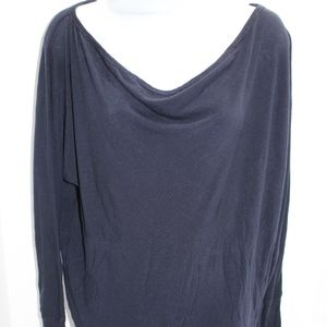 ALICE + OLIVIA BASE Blue Soft Tunic Scoop Neck M